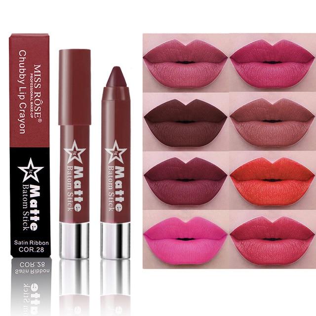 Préférence MLLE ROSE Marque Mat Rouge À Lèvres Nude Rouge À Lèvres Maquillage  EH37