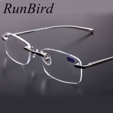 Super Quality Rimless Frame Glasses Square Reading Glasses Men Gafas De Lectura Women leesbril +1.00, +1.50, +2.00, +2.50,+3.00