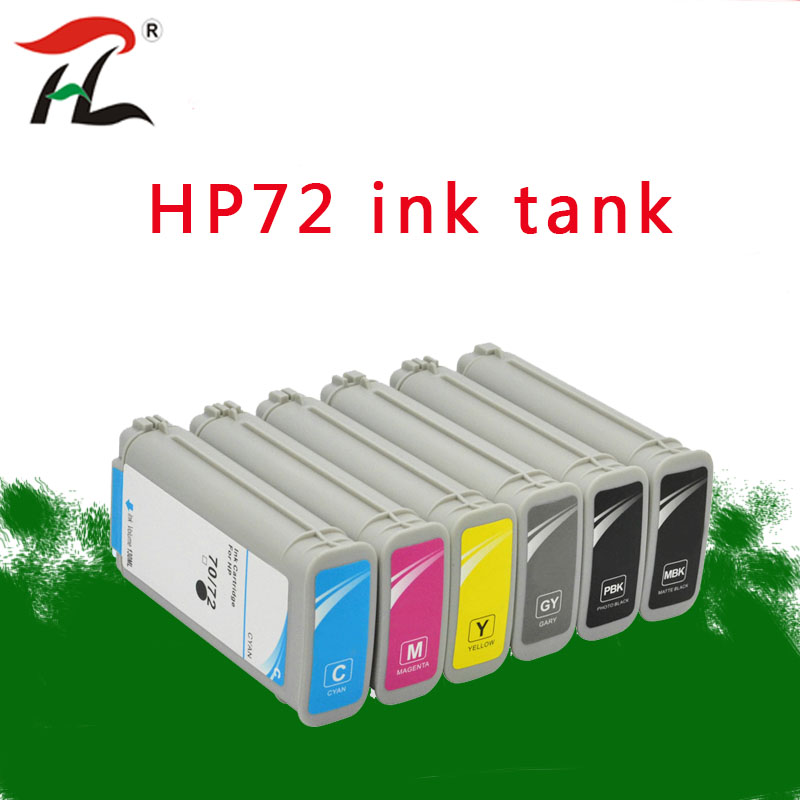 Compatible with HP 72 ink cartridges for HP Designjet T1100 T1120 T1120ps T1100ps 1100 T610T1100 printer for HP72 ink cartridges