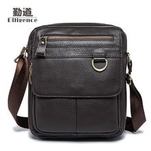 Men's Genuine Leather Handbags Casual Fashion 2017 New Style Bolsa Feminina Clutch Crossbody Bags Famous Designer High Quality
