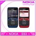 Original del teléfono nokia e63 e63 teclado qwerty del teléfono móvil bluetooth wifi fm teléfono celular envío gratis reacondicionado