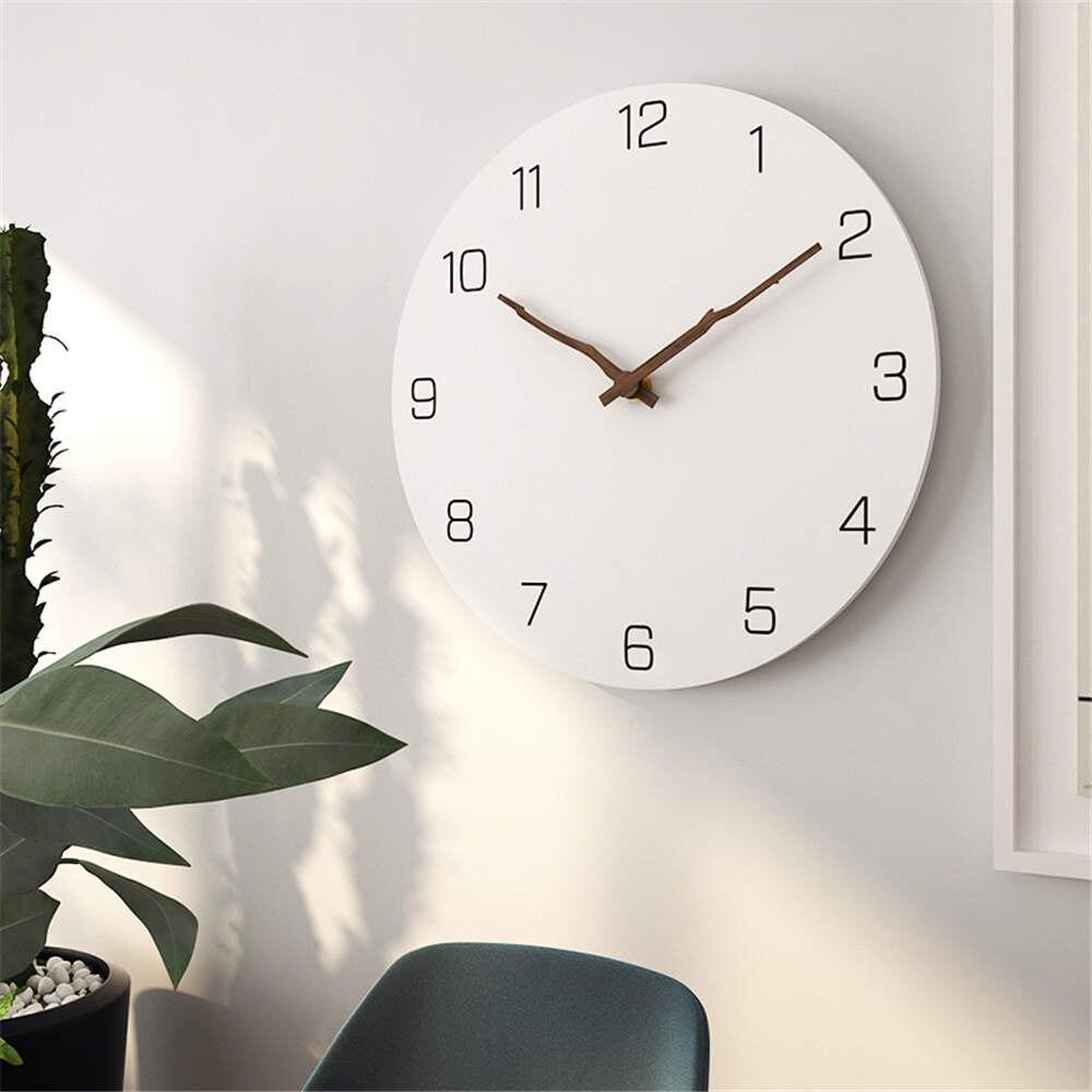 16 Inch Vintage Twig Shape Pointer Wall Clock Livingroom Modern Decor Art Clocks Bedroom Mute Quartz Clock