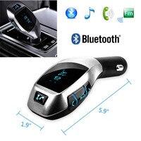 Автомобиль mp3 Радио адаптер Авто Беспроводной Bluetooth fm-передатчик громкой связи вызов Car Kit USB Зарядное устройство для карты памяти смартфонов