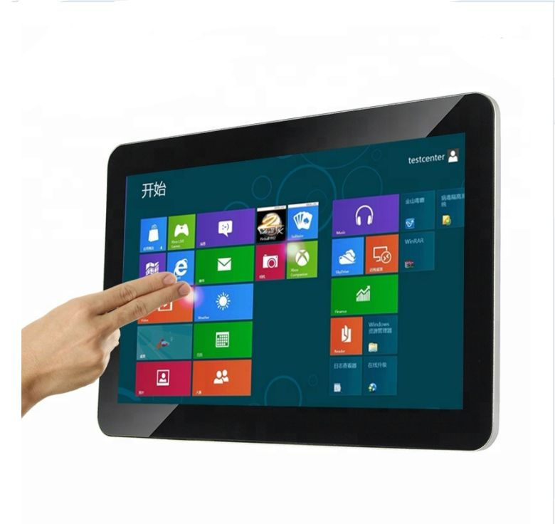 15.6 Inch Open Frame LCD Touch Screen Monitor Floor Standing Advertising Player All In One Computer