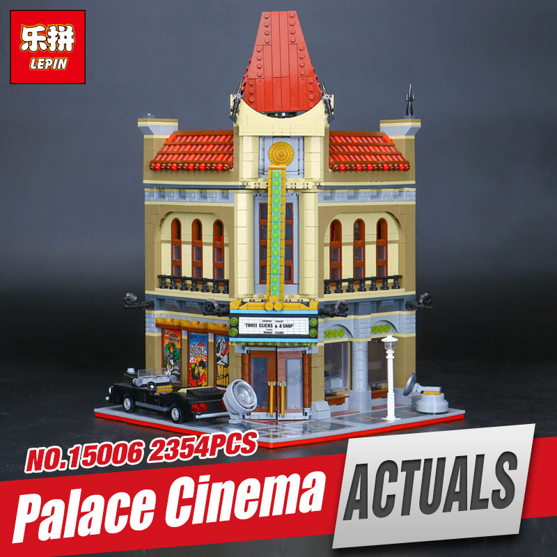 LEPIN 15006 2354pcs Genuine Palace Cinema Model Educational Building Blocks set Bricks Funny Toys Compatible with  10232 Gift 2016 new lepin 15006 2354pcs creator palace cinema model building blocks set bricks toys compatible 10232 brickgift