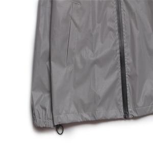 Image 4 - Uplzcoo Светоотражающая куртка для мужчин/женщин harajuku ветровка с капюшоном в стиле хип хоп Уличная Ночная блестящая куртка на молнии JA244