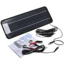 Venta caliente 12 v 4.5 w módulo del panel solar monocristalino portable sistema recargable barco de la energía del cargador de batería de automóvil coche