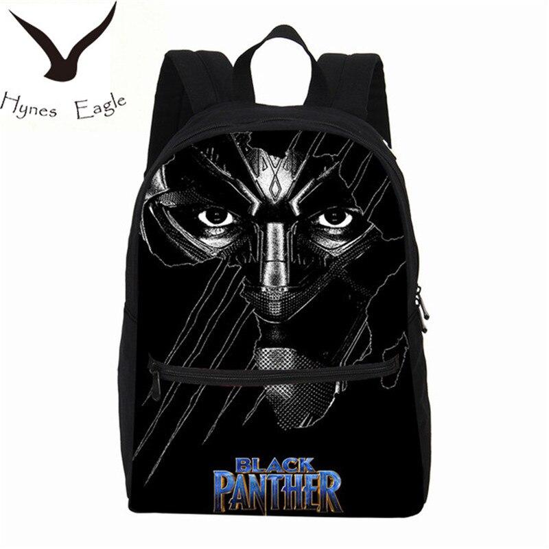 Hynes Eagle Canvas Backpacks Black Panther Printing Backpacks School font b Bag b font font b