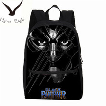 Hynes Eagle Canvas Backpacks Black Panther Printing Backpacks School Bag Laptop Backpacks Travel Bag Casual Backpacks