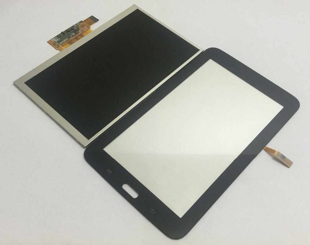 Black Touch Screen Sensor Panel Glass Digitizer + LCD Display Monitor Module For Samsung Galaxy Tab 3 Lite 7.0 SM-T110 T110 derby