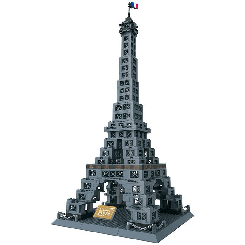 World Famous Architecture Wange Blocks Eiffel Tower Model Building Bricks set London Bridge DIY Assembly Toys for Children 8015 loz lincoln memorial mini block world famous architecture series building blocks classic toys model gift museum model mr froger