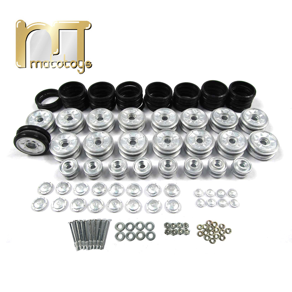 Mato metal road wheels and return rollers for 1/16 1:16 Henglong RC Panzer IV tank with rubber tyres toy rubber wheelsMato metal road wheels and return rollers for 1/16 1:16 Henglong RC Panzer IV tank with rubber tyres toy rubber wheels