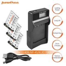 цена на 3X Li-40B LI-42B LI40B LI42B Batteries+LCD USB charger For Olympus For Nikon fuji NP-45 NP 45A 45B 45S EN-EL10 ENEL10 L15
