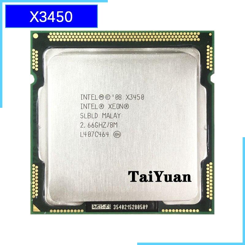 Intel Xeon X3450 2.667 GHz Quad Core Eight Thread 95W CPU Processor 8M 95W LGA 1156-in CPUs from Computer & Office  1