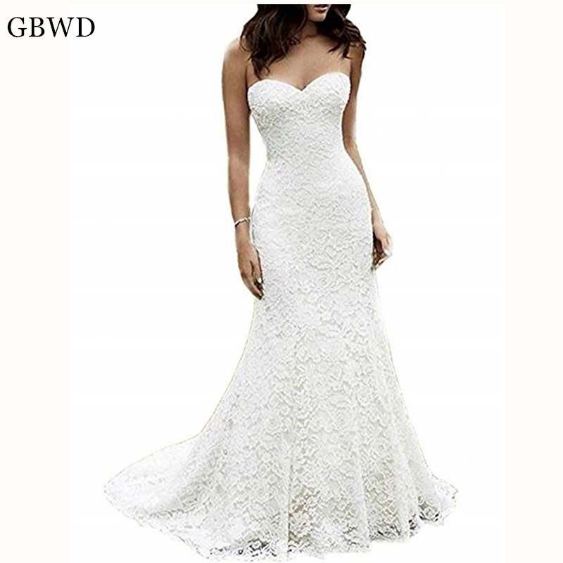 Cheap Wedding Dresses Size 6: Puls Size 2019 Simple Elegant Sweetheart Wedding Dresses
