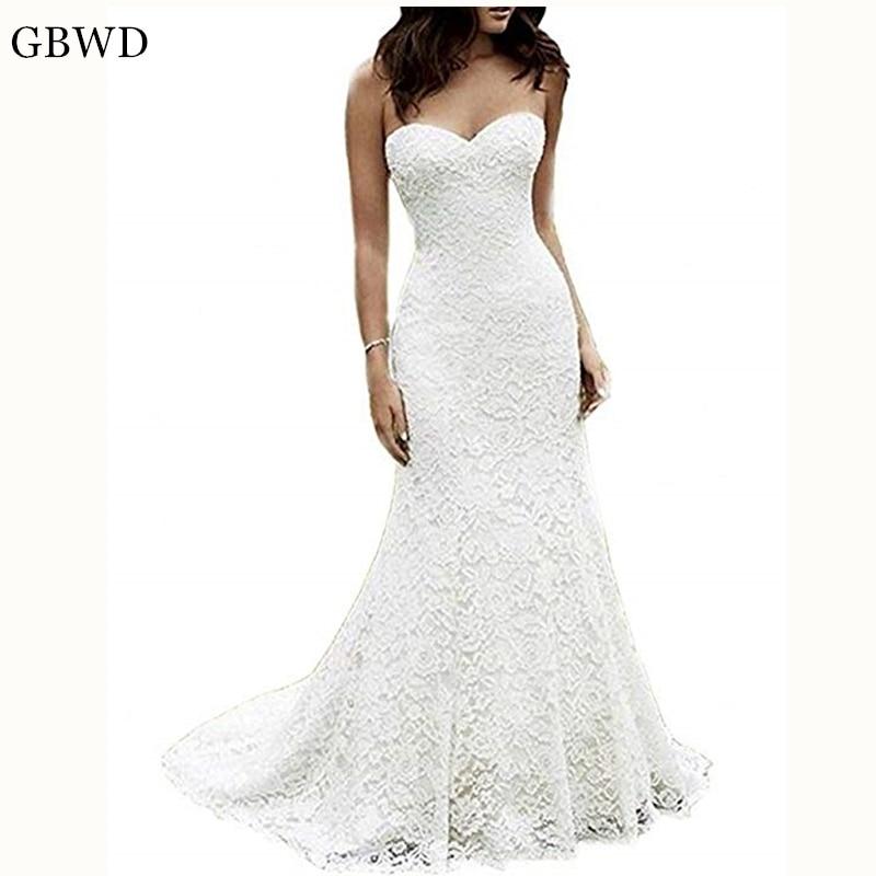 Cheap Elegant Wedding Dresses: Puls Size 2019 Simple Elegant Sweetheart Wedding Dresses