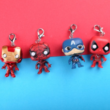 FUNKO POP Avengers: Endgame THANOS IRON MAN THOR Deadpool SpiderMan Hulk Keychain Action Figure Toys for Children Christmas gift new kids toys watch action figure the avengers 3 spiderman hulk ironman figure model toys children brinquedo birthday gift