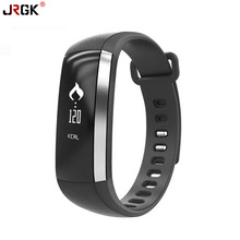 Jrgk M2 Bluetooth 4.0 Smart Браслет Смарт сердечного ритма Мониторы браслет спортивные группы Фитнес Tracker Часы для Android я