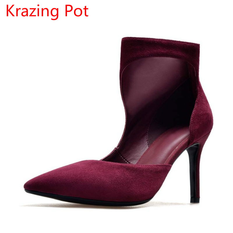 2017 New Arrival Classic Sheep Suede Runway Wedding Shoes Zipper Pointed Toe Concise Stiletto High Heels Party Women Pumps L21 new arrival blue and white porcelain pattern stiletto heels pretty women glittering crystal pointed toe pumps high quality shoes