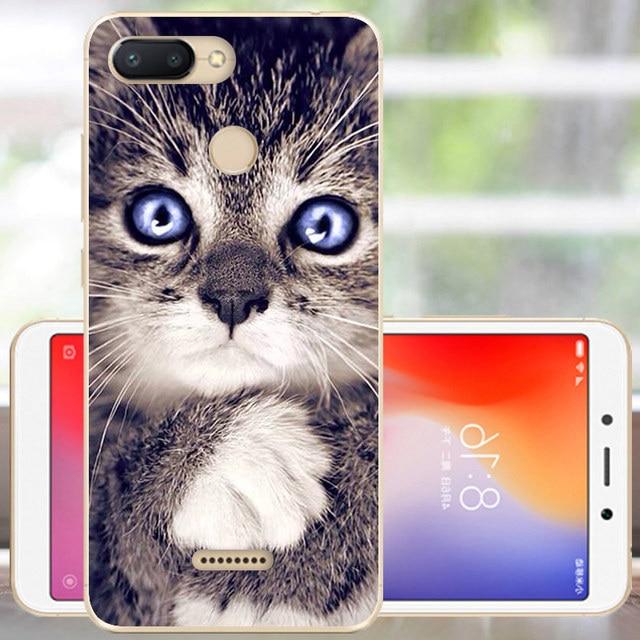 Protector Xiaomi Redmi 6 Case Cover Soft Silicone Redmi 6 Bumper Fashion Coque Xiomi Redmi 6 Phone Case 5.45 With Finger Hole