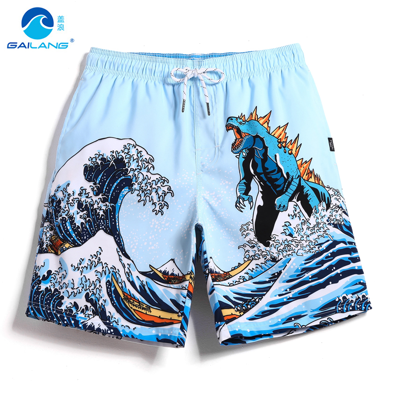 2019 Men's board shorts bathing suit swimsuit quick dry surfing hawaiian liner joggers swimwear beach shorts mesh breathable