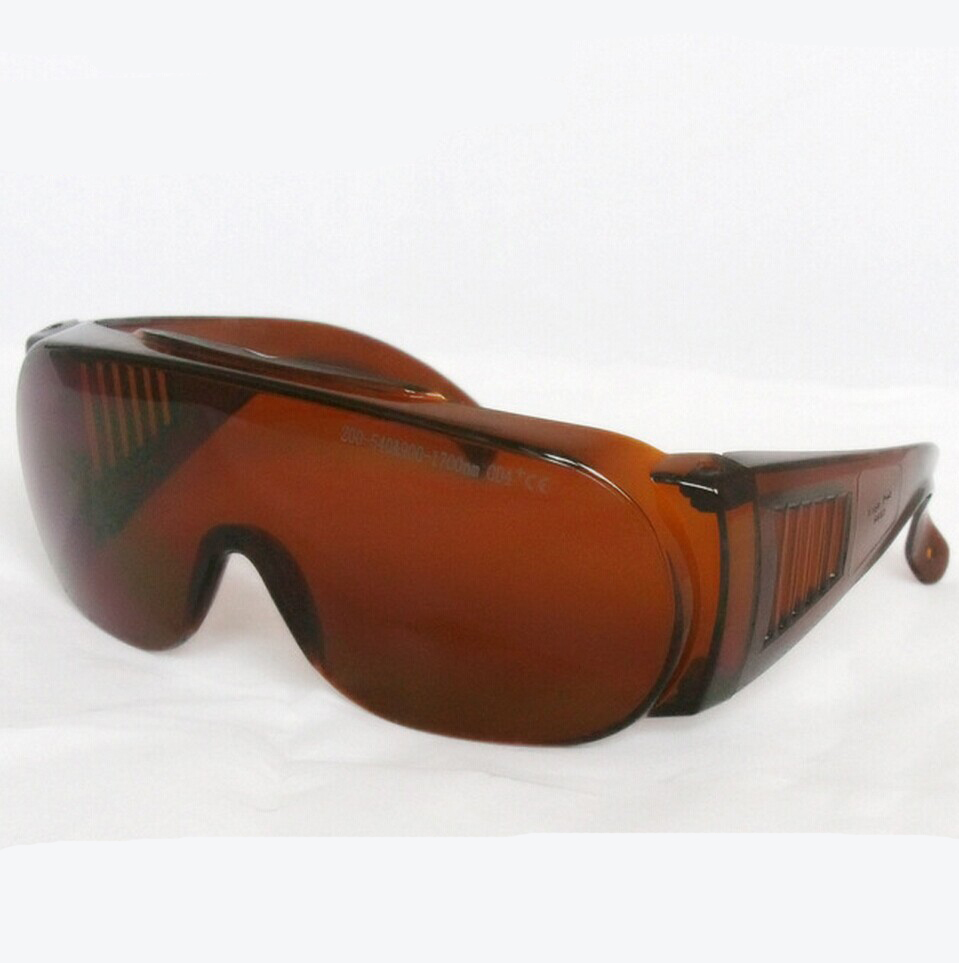 ФОТО laser safety glasses for 190-540nm&800-1700nm o.d 5+ FOR 266 488-541.5 441.6 532 514 1064 980 1510 1530 1610