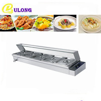 Commercial use food warmers machine with pans and lid kitchen buffet Container for hot soup