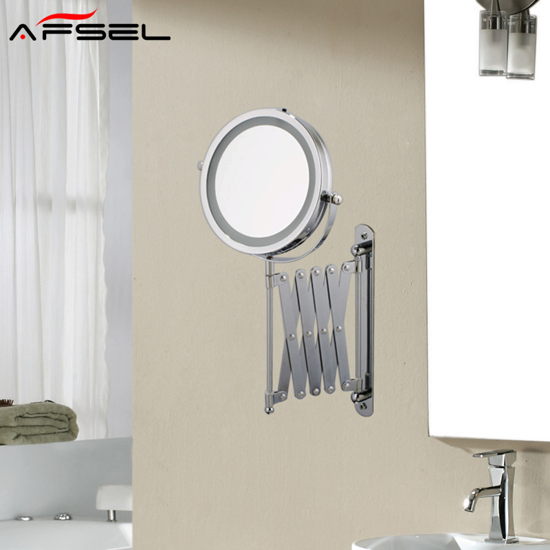 Afsel 7 Inch Makeup Mirrors Led Wall Mounted Extending