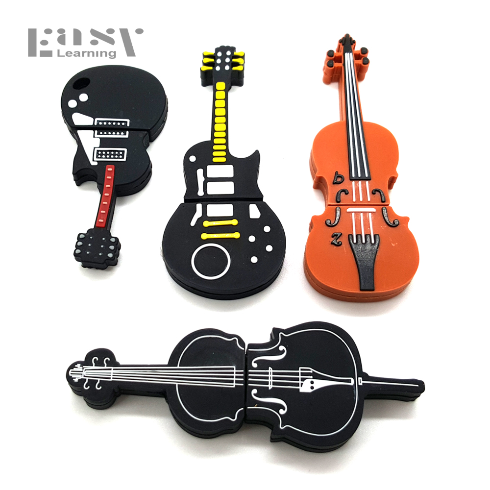 Hot Sale Easy Learning Musical Instrument Cartoon Usb Flash Drive Usb Memory Stick 4GB 8GB 16GB 32G 64G Pen Drive