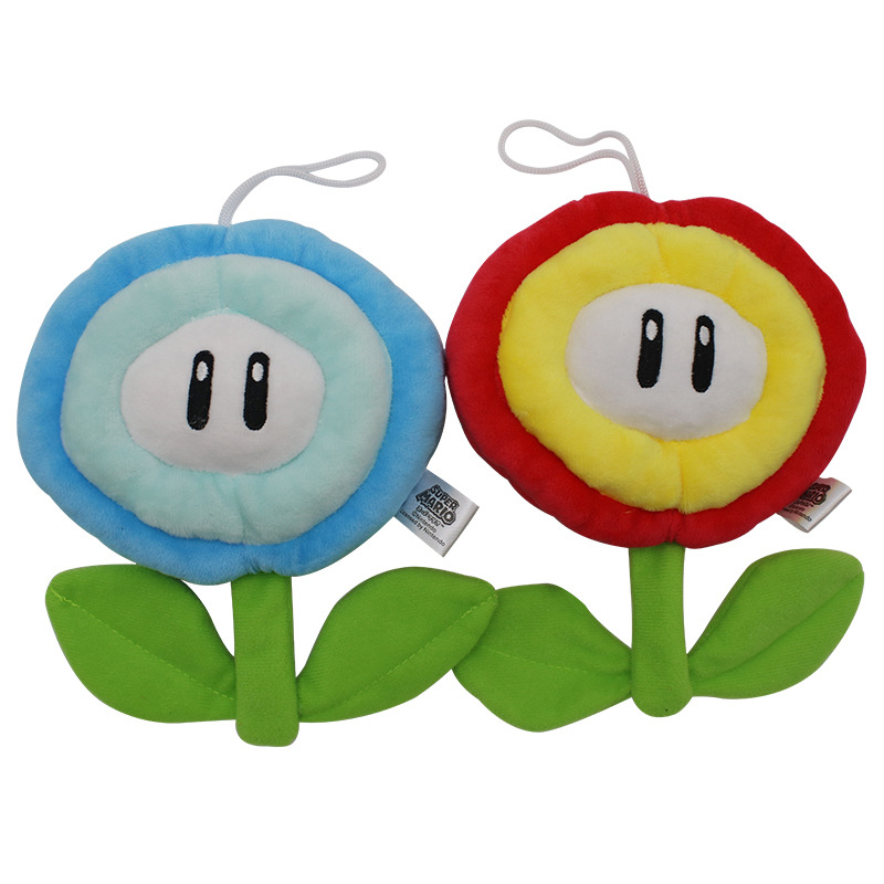 Super Mario Fire Flower /& Ice Flower Plush Plush Toy