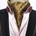 Mantieqingway Corbata Formal de Los Hombres de La Vendimia Del Lunar de La Boda Ascot Scrunch Auto Estilo Británico Caballero Corbata De Seda Corbata de Poliéster