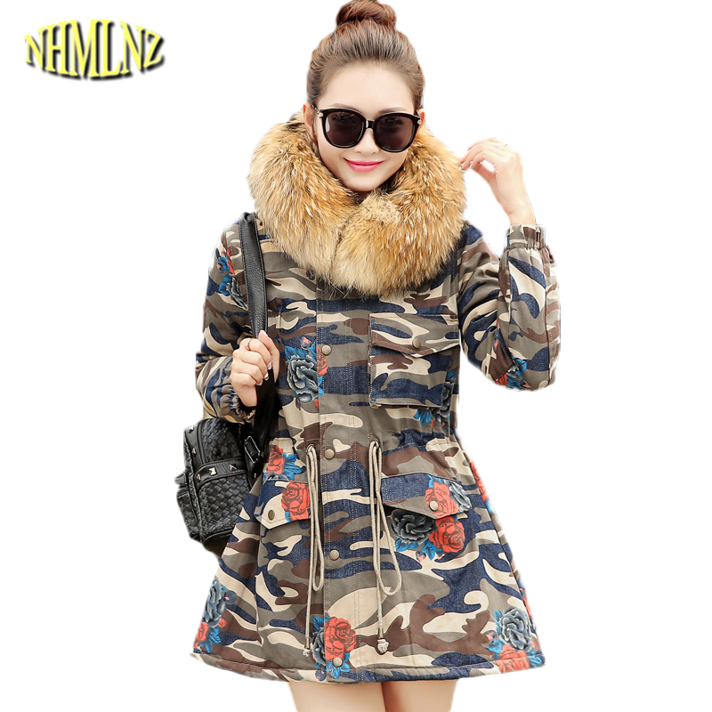 Autumn and winter Slim Comfortable Women printing Cotton coat 2017 new Casual Long sleeve Hooded Fashion Warm winter Coat WK072 free shipping 2016 autumn and winter explosion models men korean version of slim long warm hooded coat