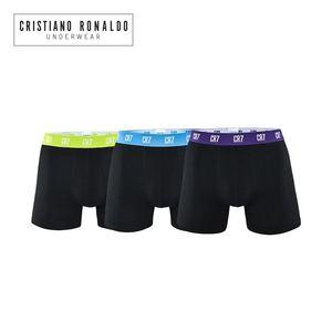 Image 2 - Cristiano Ronaldo short Boxer en coton, sous vêtements pour hommes, 3 pièces/lot, caleçons Sexy de marque