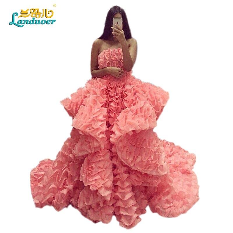 Baratos Únicos vestidos de Baile 2017 largo blush rosa vestidos de ...