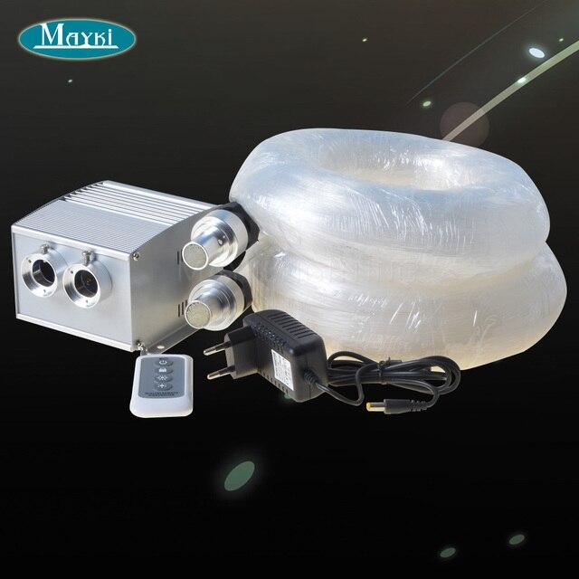 Maykit Decorative Star Ceiling Led Fiber Optic Light Kit White Cree Led+Twinkle Color Wheel+600pcs 0.75mm+60pcs 1.0mm+20pcs 1.5