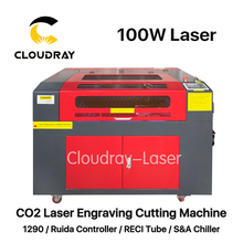 Cloudray 100W 1290 CO2 Laser Engraving Cutting Machine Engraver Cutter USB Port High Precise