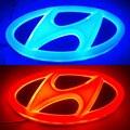 4D LEVOU Logotipo Do Carro Do estilo do carro à prova d' água lâmpada Decorativa Luz Emblema Do Carro Auto Emblema Lâmpada para Hyundai