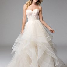 Loverxu Wedding Dress 2019 Sleeveless Backless Bride Dress