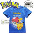 2016 New Arrivals Brand Clothing Anime Cartoon Pokemon Pikachu t shirt for Kids Unisex Boy Girls Fashion Hip Hop Tee Tops