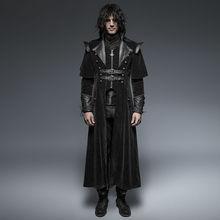 Punk Rave Mens Coat Long Jacket Black Gothic Steampunk VTG Regency Highwayman