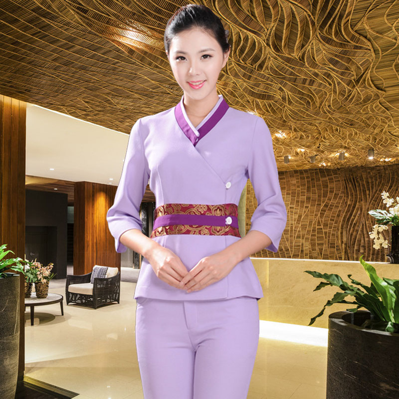 10sets free ship technicalness service work wear thai On uniform spa thailand