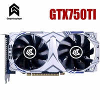 Графическая карта PCI E GTX750ti GPU 4G DDR5 для nVIDIA Geforce игровой компьютер PC 4096 МБ
