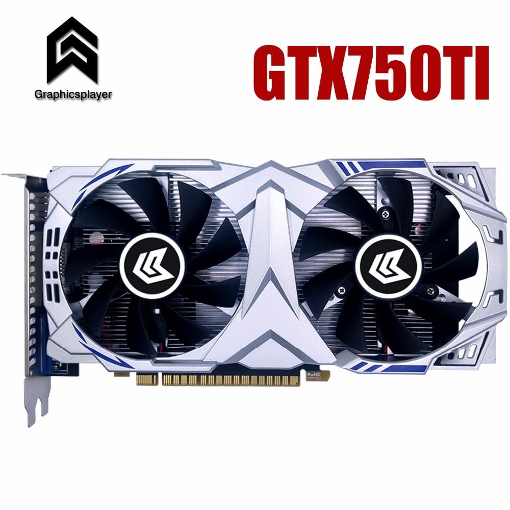 Carte graphique PCI-E GTX750ti GPU 4g DDR5 pour nVIDIA Geforce Jeu Ordinateur PC 4096 mb