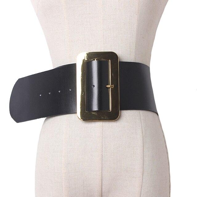 2017 Retro real leather Waistband Wide Belt For Women Waist Belt Sweet Fashion Female Belt Cummerbunds Female Dress Decoration