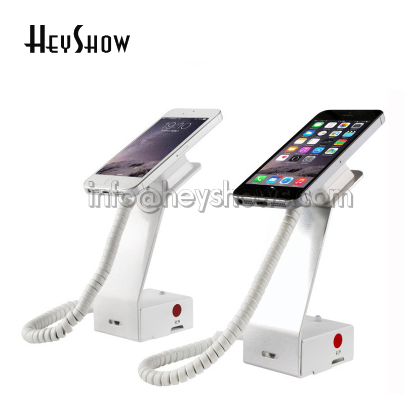 10 pcs High security phone display stand iphone anti-theft holder andriod phone syster alarm system for electronics retail store