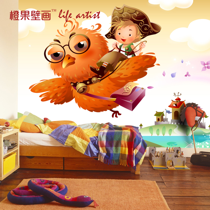 цены  Free Shipping 3D children bedroom wallpaper kindergarten playground personality boy girl cute cartoon wallpaper mural