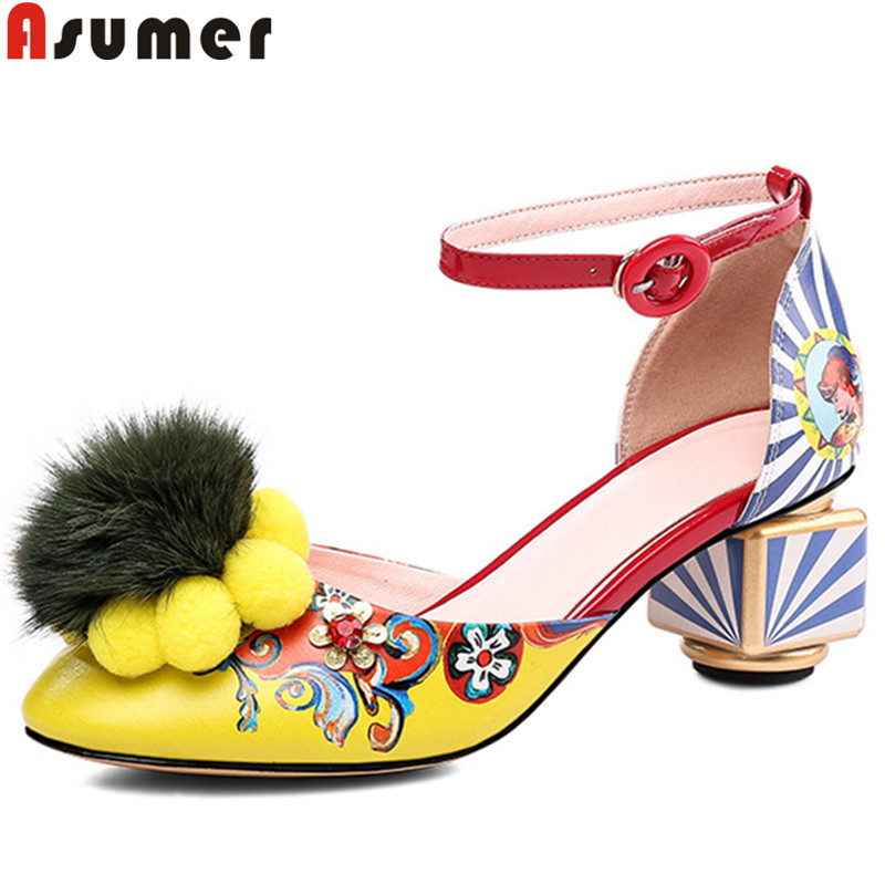 ASUMER big size 34-43 summer new shoes woman round toe buckle pumps women shoes classic prom wedding high heels shoes women 2019ASUMER big size 34-43 summer new shoes woman round toe buckle pumps women shoes classic prom wedding high heels shoes women 2019