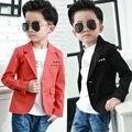 Crianças Meninos vestido de Casaco Vestido De Terno pequeno naipe masculino Coreano 2017 outono nova 3-10 Y B561