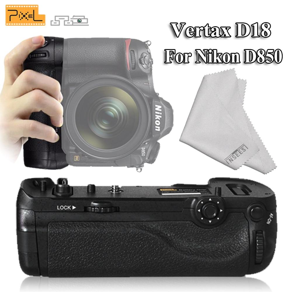 Pixel Professional Vertax D18 Battery Grip For Nikon D850 Digital SLR Camera as EN-EL15a EN-EL15(Replacement for Nikon MB-D18) en el15a 7 4v 3200mah battery pack for nikon mb d11 std nd7000