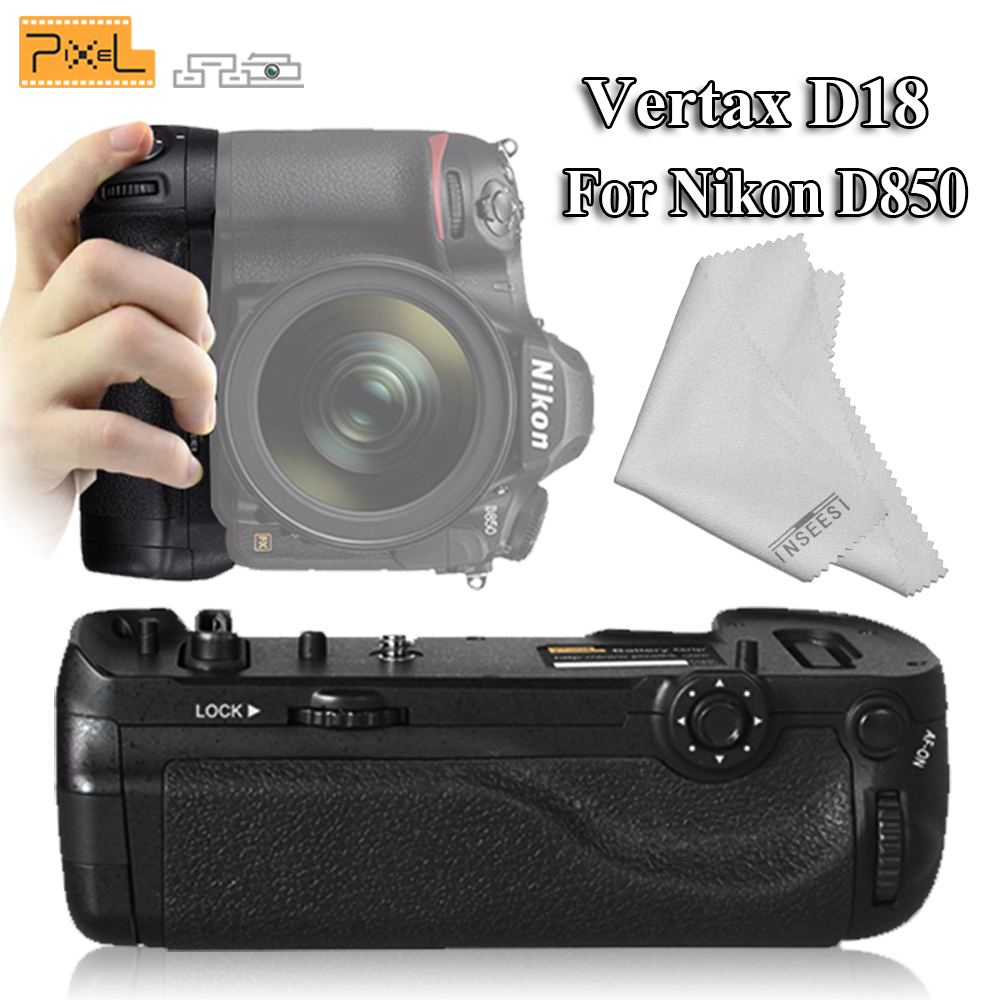 Pixel Professional Vertax D18 Battery Grip For Nikon D850 Digital ...